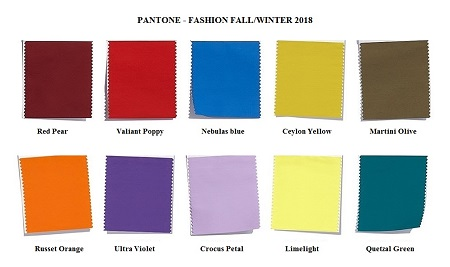 Fashion colors Fall 2018