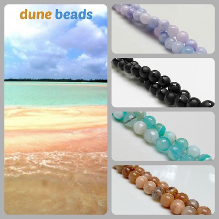 mashan jade, onyx, aqua striped agate, sunstone beads