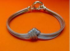 """Afbeelding van """"Liefdesknoop in gaas"""" armband in Italiaans sterling zilver"""