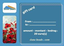 Picture of Gift Card dune beads - 20 Euros