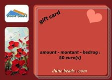 Picture of Gift Card dune beads - 50 Euros