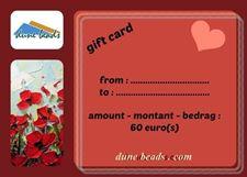 Image de Chèque-cadeau dune beads - 60 Euros