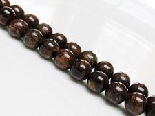 Picture of 8x8 mm, round, gemstone beads, bronzite, natural