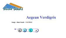 Picture of Aegean Verdigris, description ONLY, English version