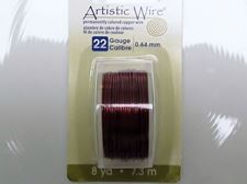 Picture of Artistic Wire, copper craft wire, 0.64 mm, brown enamel