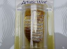 Picture of Artistic Wire, copper wire, tubular mesh, 10 mm, golden