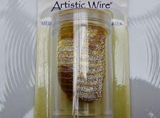 Image de Artistic Wire, fil de cuivre, résille tubulaire, 10 mm, dorée
