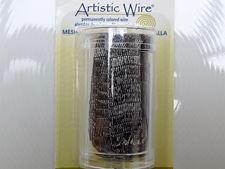 Image de Artistic Wire, fil de cuivre, résille tubulaire, 10 mm, hématite