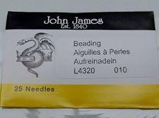 Picture of John James needles, size 10, 25 needles