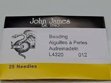 Picture of John James needles, size 12, 25 needles