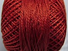 Picture of Pearl cotton, size 8, medium terracotta red, shiny