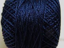 Picture of Pearl cotton, size 8, navy blue, shiny