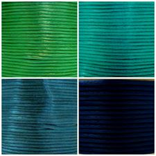 Picture of Rattail, rayon satin cord, 2 mm, 4 colors, set 2