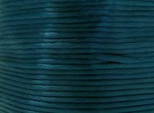 Picture of Rattail, rayon satin cord, 2 mm, medium green-blue
