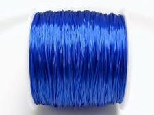 Afbeelding van Elastische sieraadkoord, 0.8 mm, diepblauw, 64 meter