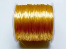 Afbeelding van Elastische sieraadkoord, 0.8 mm, goudgeel, 64 meter