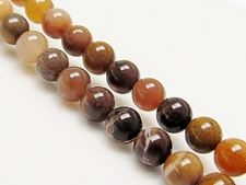 Picture of 6x6 mm, round, gemstone beads, petrified wood, brown, natural, Brazil