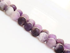 Picture of 8x8 mm, round, gemstone beads,  chevron amethyst quartz, natural, frosted