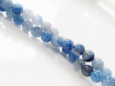 Afbeelding van 6x6 mm, rond, edelsteen kralen, aventurijn, grijsblauw, natuurlijk