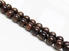 Image de 8x8 mm, perles rondes, pierres gemmes, bronzite, naturelle