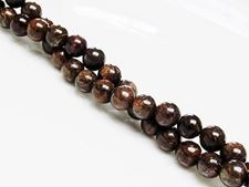 Picture of 6x6 mm, round, gemstone beads, bronzite, natural