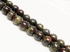 Image de 10x10 mm, perles rondes, pierres gemmes, pierre de sang, naturelle