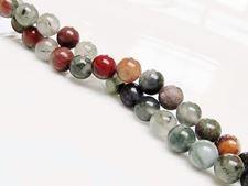 Image de 6x6 mm, perles rondes, pierres gemmes, pierre de sang africaine, naturelle