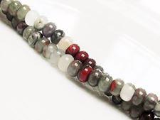 Image de 4x6 mm, perles rondelles, pierres gemmes, pierre de sang africaine, naturelle