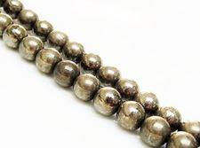 Image de 8x8 mm, perles rondes, pierres gemmes, pyrite, qualité A