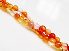 Picture of 4x4 mm, round, gemstone beads, carnelian, natural