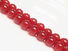 Picture of 10x10 mm, round, gemstone beads, red carnelian, natural, AA-grade
