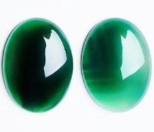 Image de 13x18 mm, ovale, cabochons de pierres gemmes, onyx, vertPierre gemme, onyx vert, cabochon ovale, 13x18 mm – dureté de Mohs 6.0-7.0 – une unité contient 1 pièce