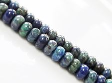 Picture of 4x6 mm, rondelle, gemstone beads, chrysocolla