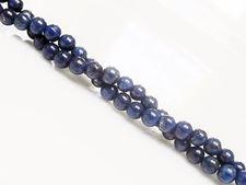 Image de 4x4 mm, perles rondes, pierres gemmes, lapis lazuli, qualité A+