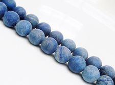 Afbeelding van 12x12 mm, rond, edelsteen kralen, lapis lazuli, mat
