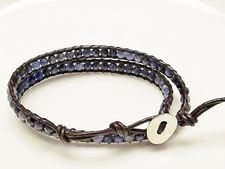 Picture of Wrap bracelet, gemstone beads, sodalite
