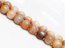 Picture of 10x10 mm, round, gemstone beads, sunstone, natural, B-grade