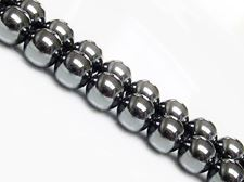Picture of 10x10 mm, round, gemstone beads, hematite, A-grade