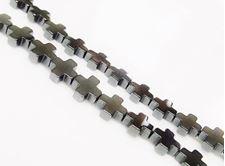 Picture of 6x6 mm, Greek cross, gemstone beads, hematite