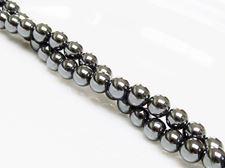 Image de 6x6 mm, perles rondes, pierres gemmes, hématite, qualité A