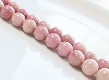 Picture of 8x8 mm, round, gemstone beads, rhodonite, natural