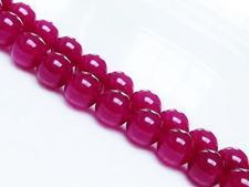 Picture of 10x10 mm, round, gemstone beads, jade, deep pink, A-grade