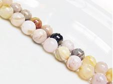 Picture of 8x8 mm, round, gemstone beads, bamboo leaf jasper, natural