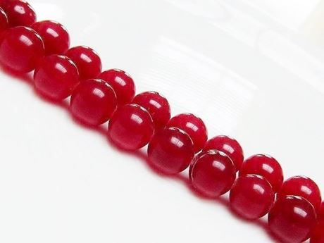 Image de 10x10 mm, perles rondes, pierres gemmes, jade, rouge, qualité A