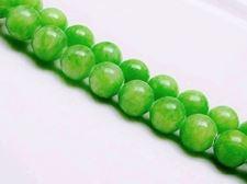 Afbeelding van 12x12 mm, rond, edelsteen kralen, Mashan jade, grasgroen