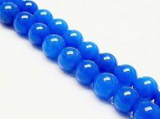 Afbeelding van 8x8 mm, rond, edelsteen kralen, jade, diepblauw, A-klasse
