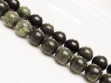 Afbeelding van 10x10 mm, rond, edelsteen kralen, Afrikaanse groene jaspis, natuurlijk