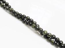 Image de 4x4 mm, perles rondes, pierres gemmes, jaspe vert africain, naturel