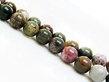 Picture of 10x10 mm, round, gemstone beads, Fancy jasper, natural