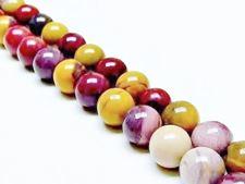 Image de 10x10 mm, perles rondes, pierres gemmes, Mookaïte Windalia Radiolarite, naturelle, qualité A